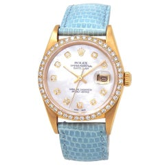 Rolex Datejust 16018, Mother of Pearl Dial, Certified and Warranty