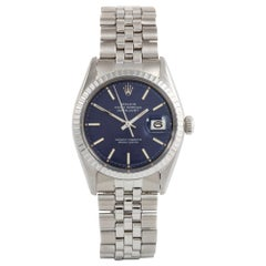 Rolex Datejust 1603, Blue Dial, Certified and Warranty