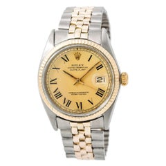 Rolex Datejust 1603, Gold Dial, Certified and Warranty