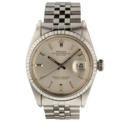 Rolex Datejust 1603, Millimeters Silver Dial, Certified and Warranty