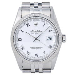 Rolex Datejust 16030 White Roman Dial Jubilee Automatic Men's Watch