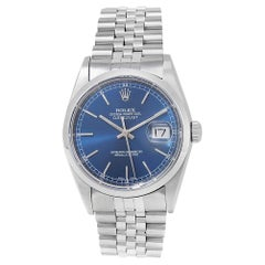 Rolex Datejust 16200, Blue Dial, Certified and Warranty