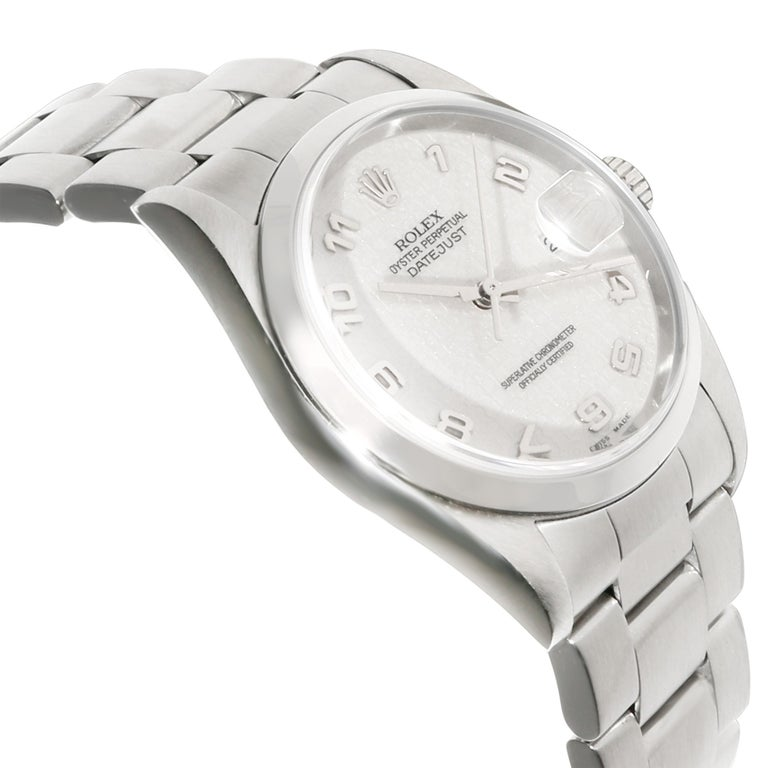 Rolex Datejust 16200 Men's Watch in Stainless Steel In Excellent Condition In New York, NY