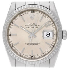 Rolex Datejust 16220, Certified and Warranty