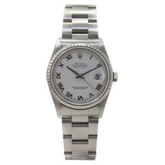 Rolex Datejust 16220 with Band and White Dial