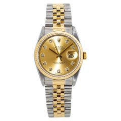 Rolex Datejust 16233 18k Two Tone Automatic Mens Watch with Box/Papers