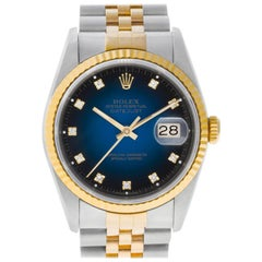 Rolex Datejust 16233, Blue Dial, Certified and Warranty