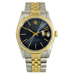 Rolex Datejust 16233 Blue Dial Men's Watch
