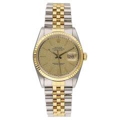 Rolex Datejust 16233 Champagne Jubilee Dial Men's Watch