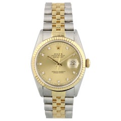 Rolex Datejust 16233 Diamond Dial Men Watch Original Box Papers
