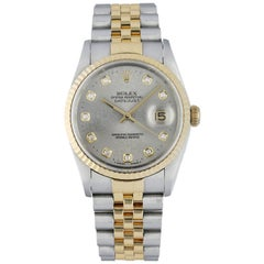 Rolex Datejust 16233 Jubilee Diamond Dial Watch