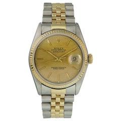 Rolex Datejust 16233 Linen Dial Men's Watch