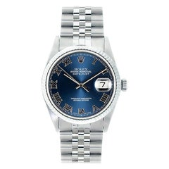 Rolex Datejust 16234, Blue Dial, Certified and Warranty