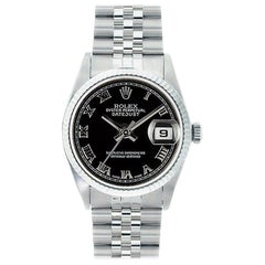 Rolex Datejust 16234, Black Dial, Certified and Warranty
