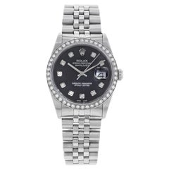 Rolex Datejust 16234 Custom Bezel and Dial 1988 Diamond Automatic Men's Watch