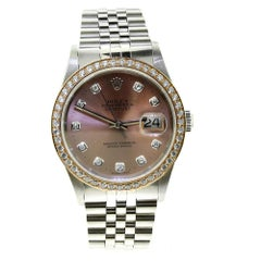 Rolex Datejust 16234 Diamond Bezel & Gold Diamond Dial Steel Jubilee Band 'R-3'