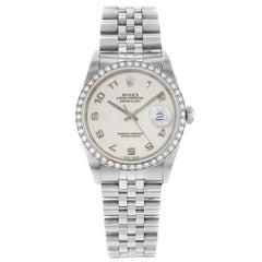 Rolex Datejust 16234 Holes Arabic Jubilee Dial Custom Diamond Bezel Men's Watch