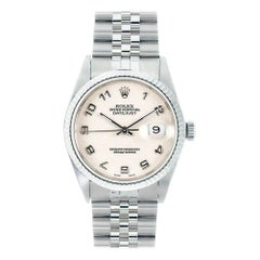 Rolex Datejust 16234, Ivory Dial, Certified and Warranty