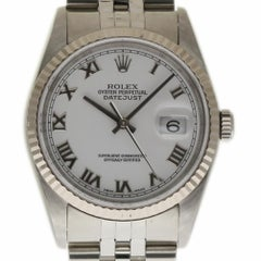 Rolex Datejust 16234 Stainless Steel White Gold Bezel 2002 Warranty #300-1