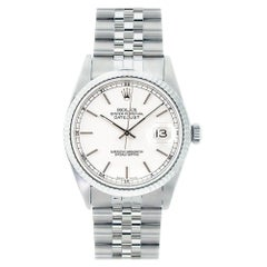 Rolex Datejust 16234, White Dial, Certified and Warranty