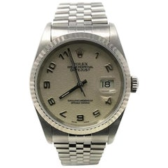 Rolex Datejust 16234 With 7.7 in. Band & Beige Dial