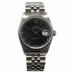 Rolex Datejust 16234 With 7.7 in. Band & Black Dial
