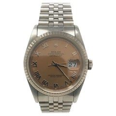 Rolex Datejust 16234 With 7.7 in. Band & Pink Dial