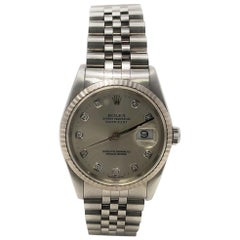 Rolex Datejust 16234 With 7.7 in. Band & Silver Dial