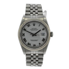 Rolex White Gold Date Wristwatch