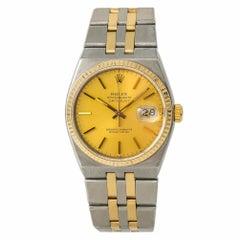 Rolex Datejust 17013 Men's Quartz Watch Champagne Dial Two-Tone SS