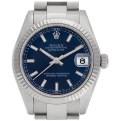 Rolex Datejust 178274, Blue Dial, Certified and Warranty