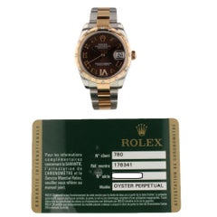 Rolex Datejust 178341, Brown Dial, Certified and Warranty