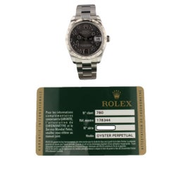 Rolex Datejust 178344, Black Dial, Certified and Warranty