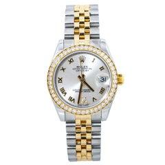 Rolex Datejust 178383 18k Factory Diamond Bezel & Dial Box & Paper