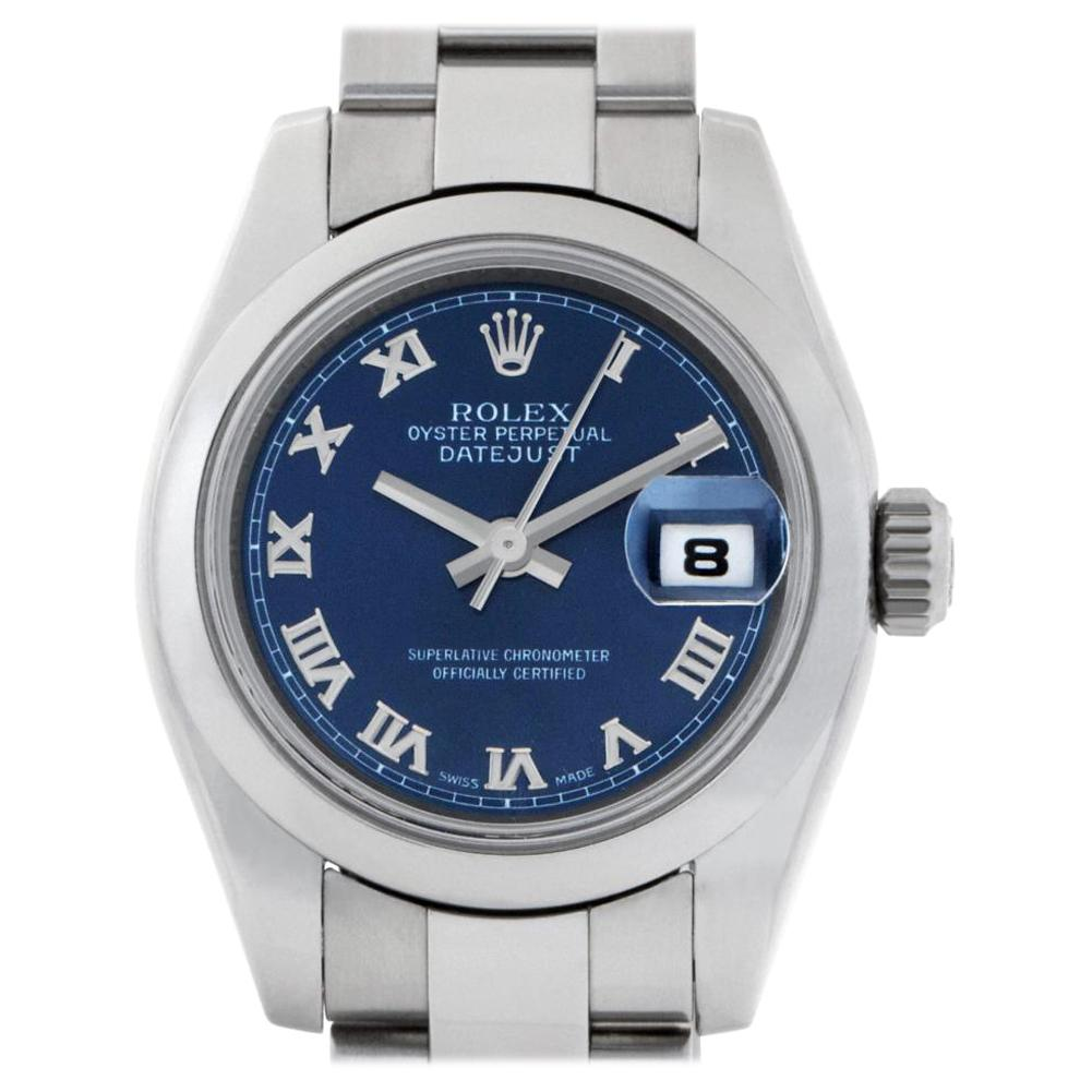 Rolex Datejust 179160 Stainless Steel Navy Dial Automatic Watch