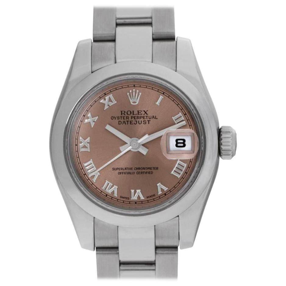 Rolex Datejust 179160 Stainless Steel Salmon Dial Automatic Watch