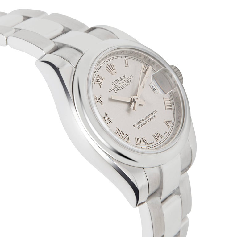 Rolex Datejust 179160 Women's Watch in Stainless Steel  Retail price 6,100 USD. Circa 2006. Recently serviced by a certified watchmaker. Excellent condition. Rolex Caliber 2235, 31 Jeweled Movement. Does not come with original box or papers.