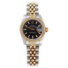 Rolex Datejust 179161 with Band and Black Dial