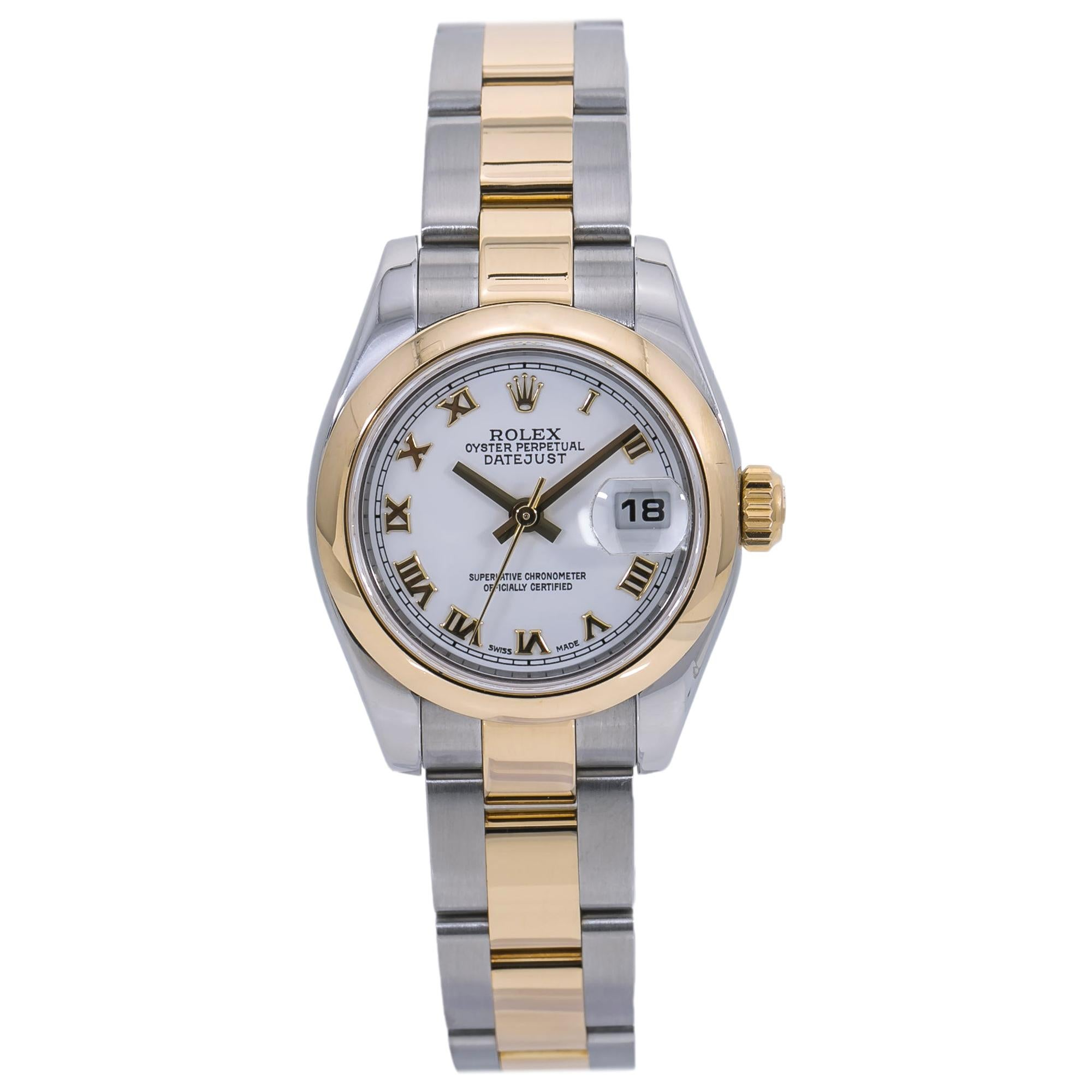 Rolex Datejust 179163 Lady's Automatic Watch Oyster Bracelet 18k Two-Tone