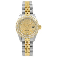 Rolex Datejust 179173 Champagne Jubilee Diamond Dial Steel 18K Gold Ladies Watch