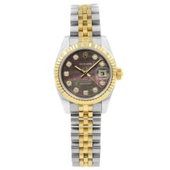 Rolex Datejust 179173 MOP Diamond Dial Steel Yellow Gold Automatic Ladies Watch