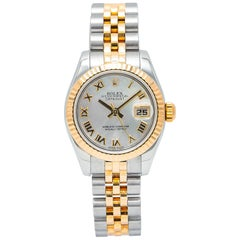 Rolex Datejust 179173 MOP Roman Women's Automatic Watch 18K Two-Tone Papers