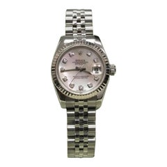 Rolex Datejust 179174, Blue Dial, Certified and Warranty