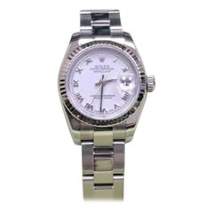 Rolex Datejust 179174, White Dial, Certified and Warranty