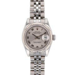 Rolex Datejust 179174 with Band, White-Gold Bezel and Silver Dial