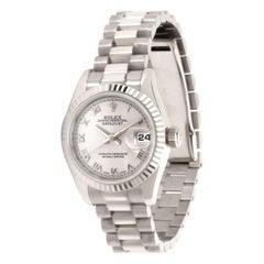 Rolex Datejust 179179 Women's Watch in 18 Karat White Gold