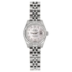 Rolex Datejust 179384 Jubilee, Mother of Pearl Dial Diamond Bezel New