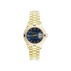 Rolex DateJust 18 karat Yellow Gold Diamond Ladies Watch