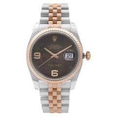 Rolex Datejust 18K Rose Gold Steel Chocolate Dial Ladies Watch 116231CHFDAJ