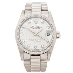 Rolex Datejust 18 Karat White Gold Women's 68279